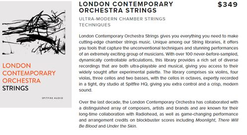 Spitfire Audio London Contemporary Orchestra Strings v1